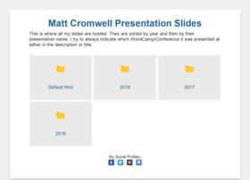 slides.mattcromwell.com