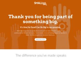 smallcanbebig.org