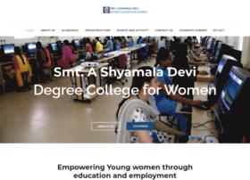 smtashyamaladevidegreecollege.com