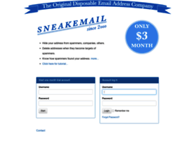sneakemail.com