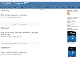 sniglets.sanjeev.net