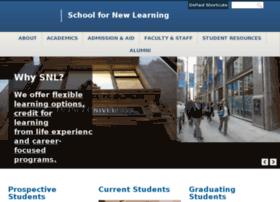 snlonline.depaul.edu