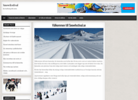 snowfestival.se