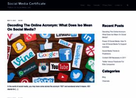 socialmediacertificate.net