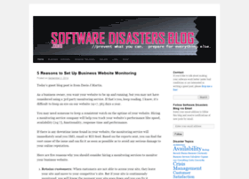 softwaredisastersblog.com