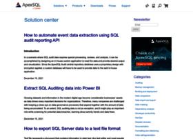 solutioncenter.apexsql.com