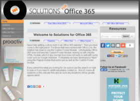 solutionsforoffice365.com