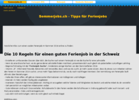 sommerjobs.ch