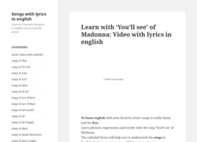 songsinenglish.blog.linkua.com