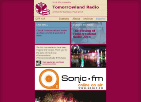 sonicfm.tomorrowlandradio.com