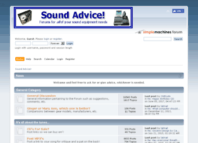 soundadviceforums.com