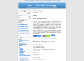southcarolinagenealogy.org