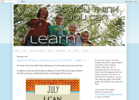 soyouthinkyoucanlearn.blogspot.com