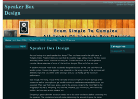 speakerboxdesign.org