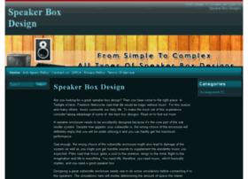 speakerboxdesign.org