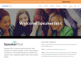 speakertext.com