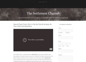 speakingofsettlements.com
