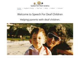 speechfordeafchildren.com