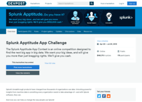 splunkapptitude2.challengepost.com