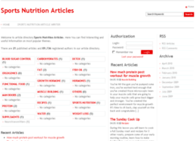 sportsnutritionarticles.com