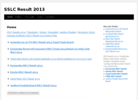 sslcresults2013.in