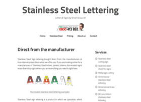 stainlesssteellettering.co.uk