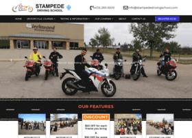 stampededrivingschool.com