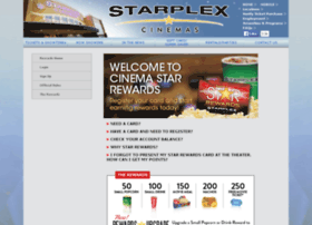 starrewards.starplexcinemas.com