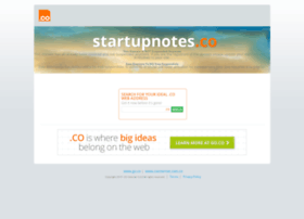 startupnotes.co