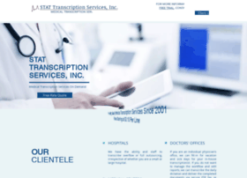 statmedicaltranscriptionservices.com