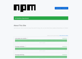 status.npmjs.org