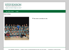 stevenson.universitytickets.com