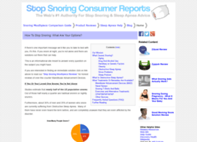 stopsnoringconsumerreports.com