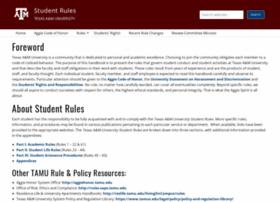 student-rules.tamu.edu