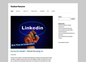 studentresume.info