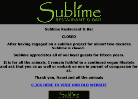 sublimerestaurant.com