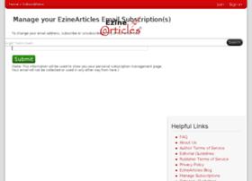 subscriptions.ezinearticles.com
