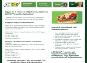 subwayfranchisehungary.com