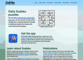 sudokuoftheday.com