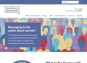 suicidepreventionmessaging.actionallianceforsuicideprevention.org