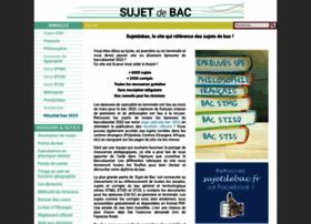 sujetdebac.fr