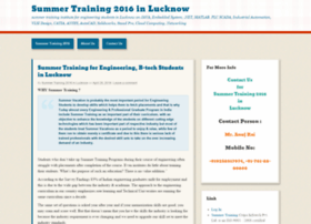 summertrainingatlucknow.wordpress.com