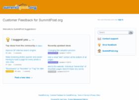 summitpost.uservoice.com