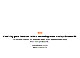 Sunday Observer Vacancies