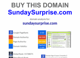sundaysurprise.com