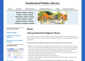 sunderlandpubliclibrary.org