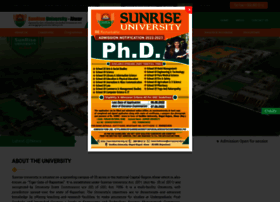 sunriseuniversity.in