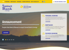 sunsetbankandsavings.com