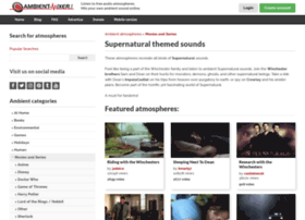 supernatural-series.ambient-mixer.com