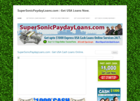 supersonicpaydayloans.com